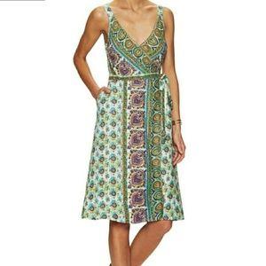 Calypso St. Barth Ivara linen wrap print dress